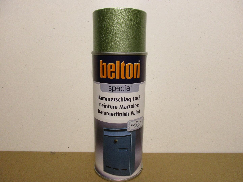 1 spraydose hammerschlag lack grün belton 400ml hammerschlag-effekt